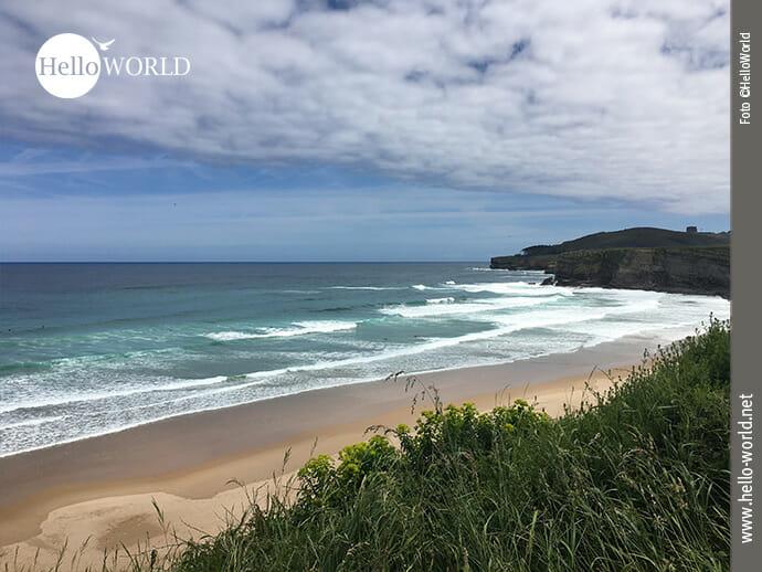 Menschenleer: der Playa de Langre im Mai