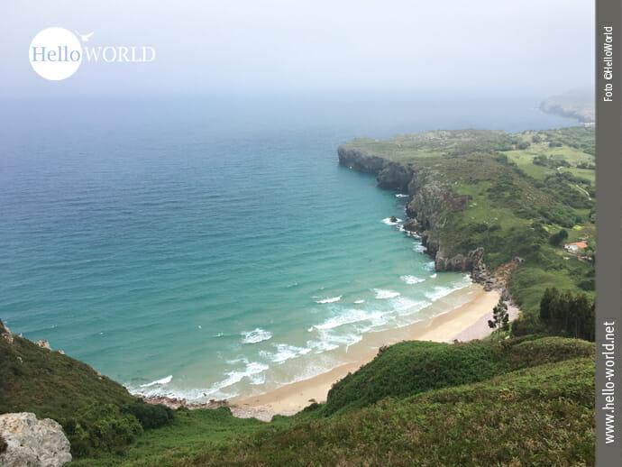 Playa Ballota an der spanischen Nordküste