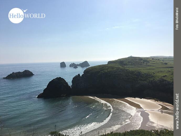 Der Playa Poo Asturias im Norden Spaniens