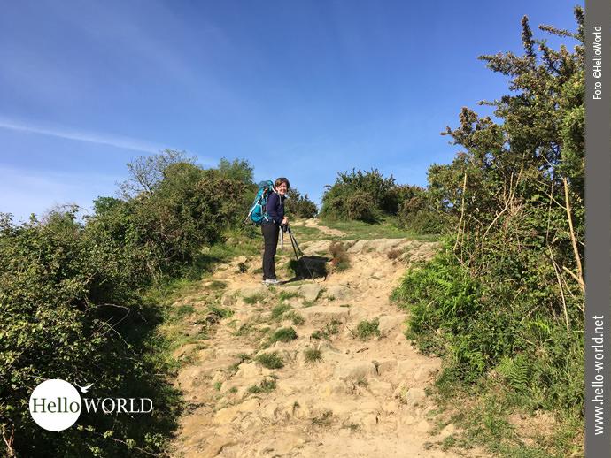 Steinig und steil: der Aufstieg auf den Jaizkibel