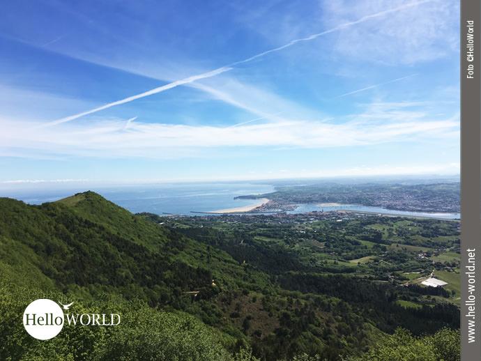 Tolle Aussichten vom Berggrat des Jaizkibel