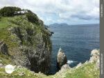 Eigensinnige Felsformation am Nordküstenweg