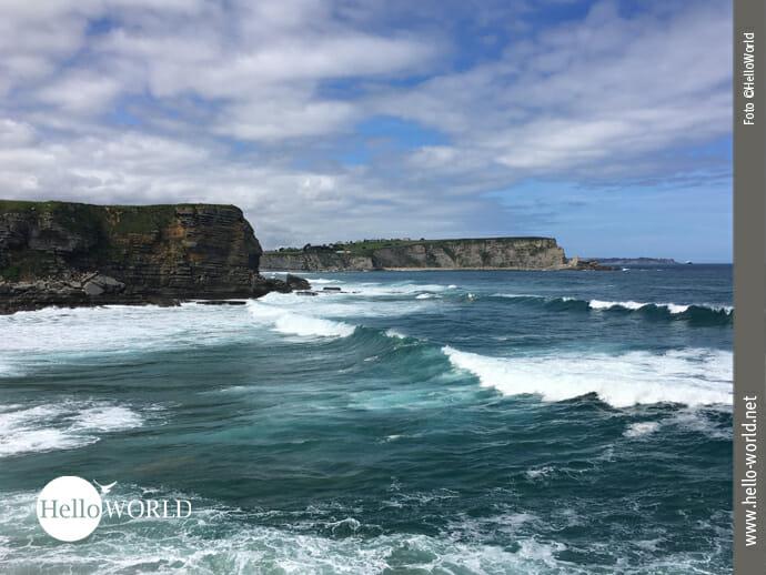 Rau und bewegt: der Atlantik an der spanischen Nordküste