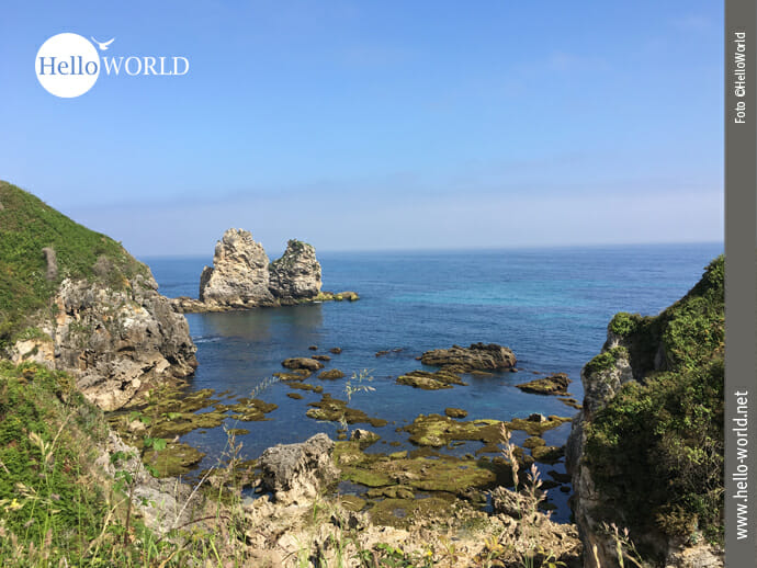 Kleines Felsenpärchen an der spanischen Nordküste