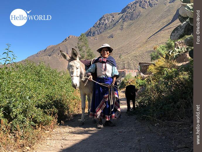 Fortbewegung in den Dörfern des Colca Canyon