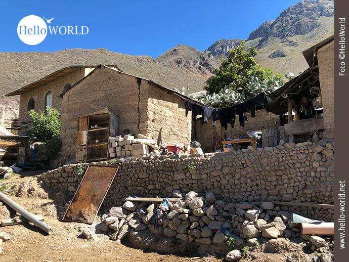 Ländliches Wohnen in einem Colca-Dorf