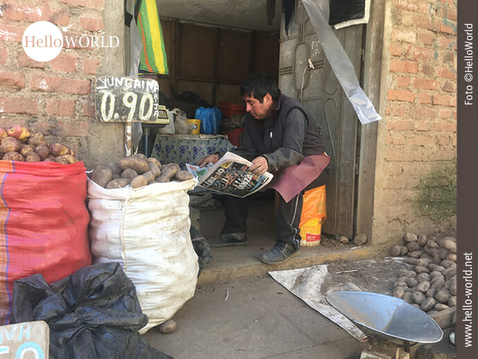 Gemütliches Dorfleben in Südamerika