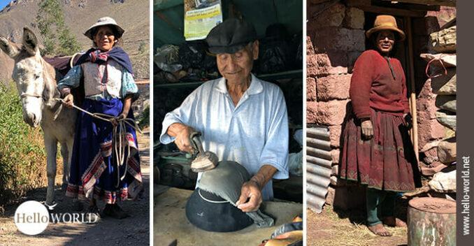 Das Bild zeigt eine Kollage von drei Menschen in Südamerika.