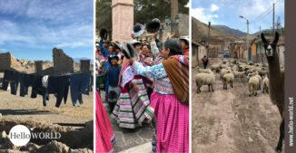 Hier sieht man drei ausgewählte Bilder aus Dörfern in Südamerika.
