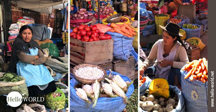 In der Galerie Bilder von Märkten in Südamerika finden sich viele Impressionen von Marktständen.