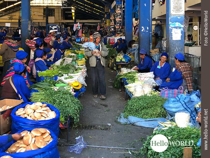 Markthalle in Südamerika