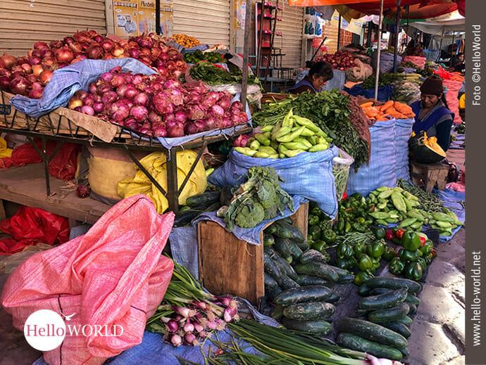 Gemüseverkauf am Straßenstand