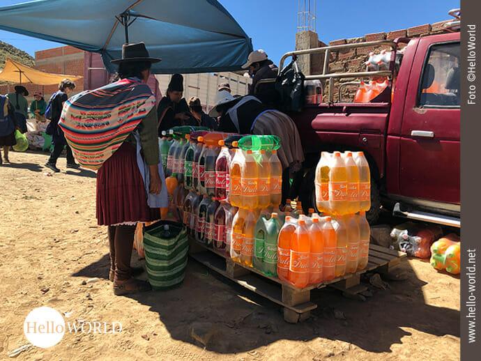 Getränkehandel auf dem Markt