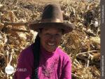 Feldarbeiterin in Peru