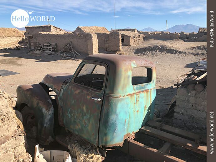 Autowrack in Bolivien