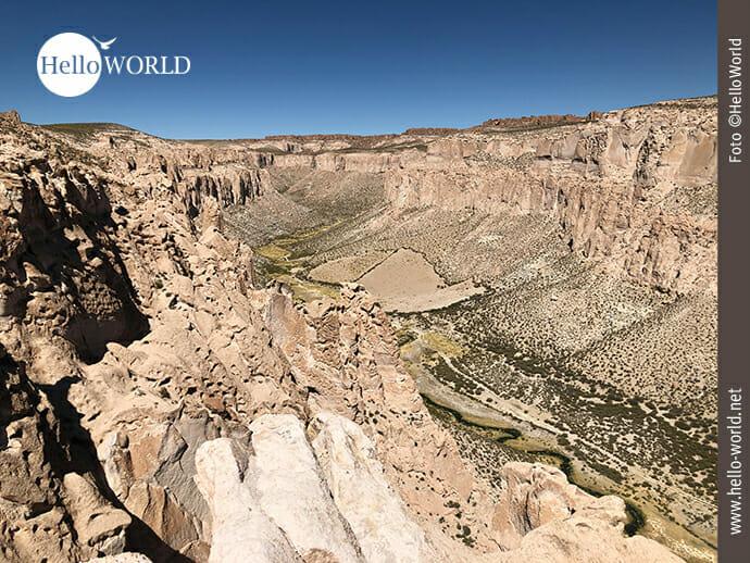 Blick auf den Canon de Alota in Bolivien