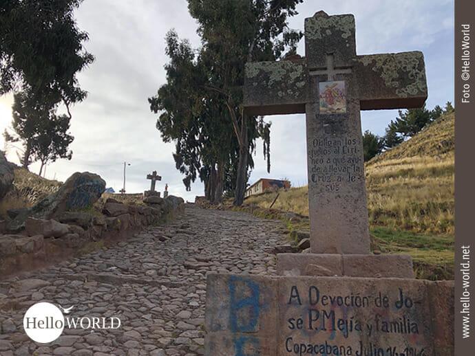 Der Kreuzweg am Cerro Calvario in Bolivien