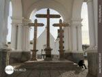 Kreuze bei der Basilika von Copacabana