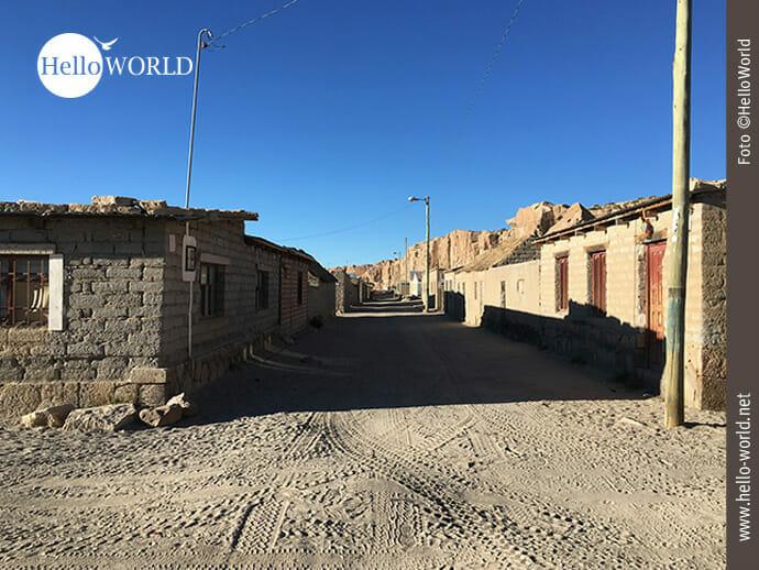 Dorfstraße zwischen Tupiza und La Paz