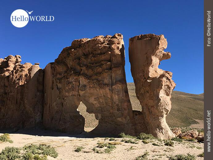Felsformation in der Altiplano Boliviens