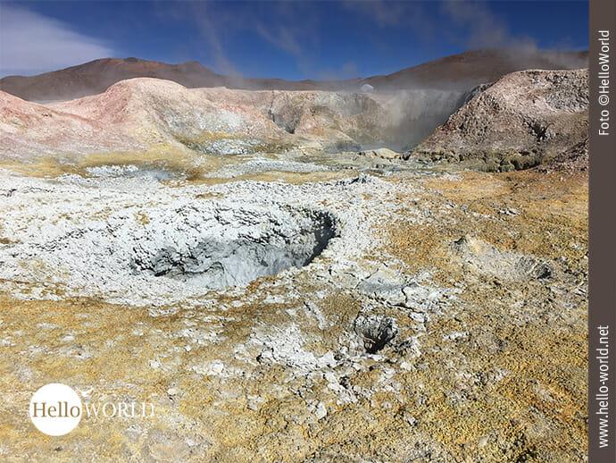 Geysirfeld in Bolivien: Sol de Manana
