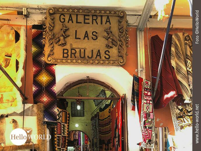 Eingang zur Galeria las Brujas in La Paz