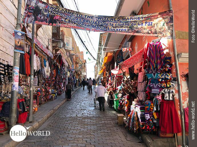 Willkommen auf dem Hexenmarkt in La Paz