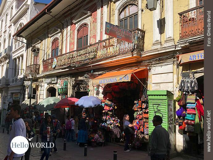 Straßenansicht in La Paz
