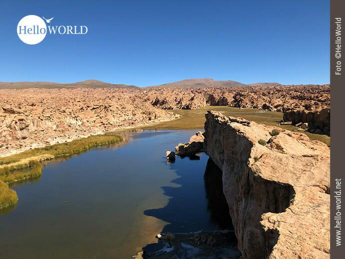 Blick auf die Laguna Negra in Bolivien