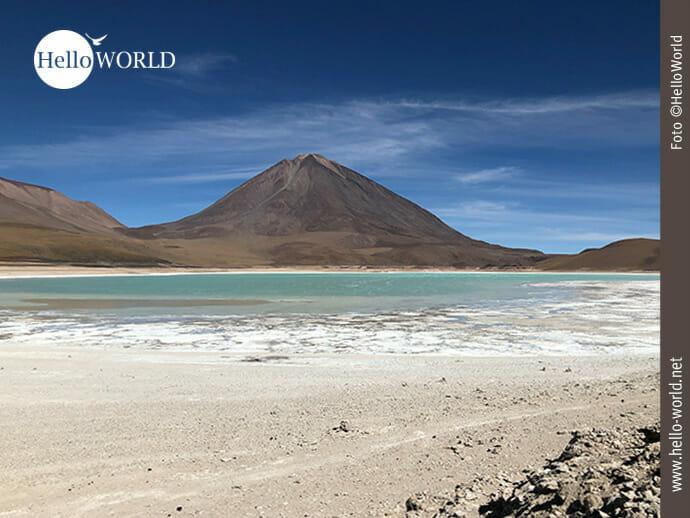 Wahnsinniges Farbspiel: Laguna Verde in Bolivien