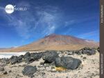 Lavagestein im Vulkangebiet Boliviens
