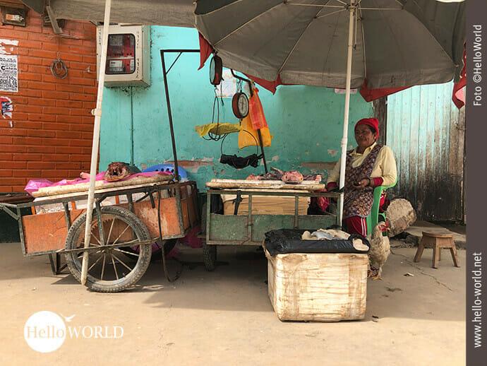 Fischverkauf auf Rurrenabaques Straße
