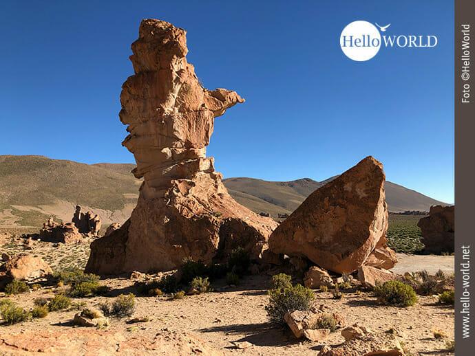 Felsformation im Valle de las Rocas, Bolivien