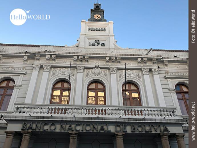 Bemerkenswert: das Gebäude der Nationalbank von Bolivien