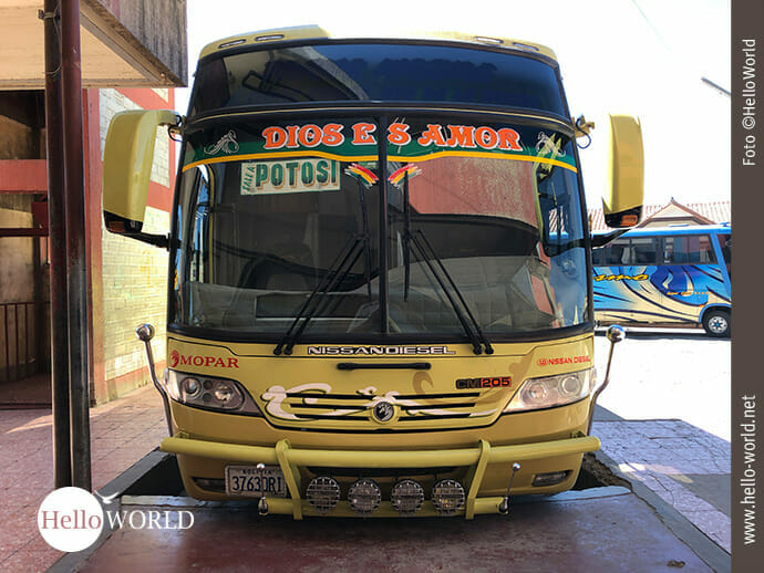 Mit dem Bus nach Potosi ...