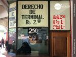 Typisch Südamerika: Terminalgebühren am Busbahnhof
