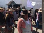 Bolivien: ausdrucksvolle Gesichter eines Streiks