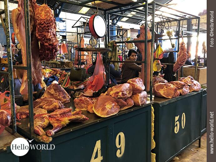 Fleisch wird vor allem in großen Stücken verkauft