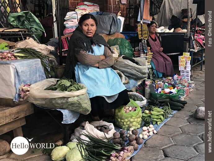 Klein aber fein: das Warenangebot der Marktfrauen