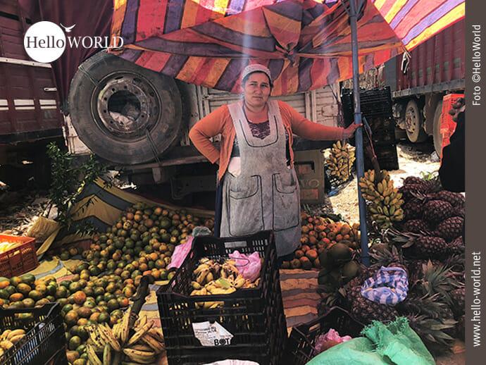 """Auf dem Mercado el Morro soll die Arbeit """"Früchte tragen""""."""