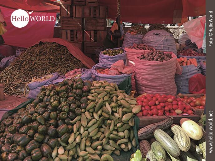 Hier stapelt sich im wahrsten Sinne des Wortes das Gemüse.