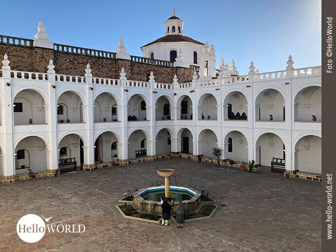 Malerisch: das Kloster San Felipe de Neri in Sucre
