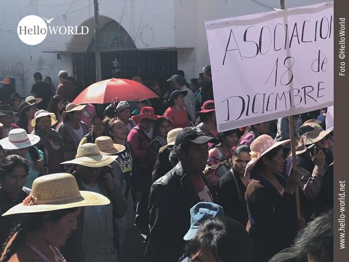 Impressionen der Proteste in Sucre.