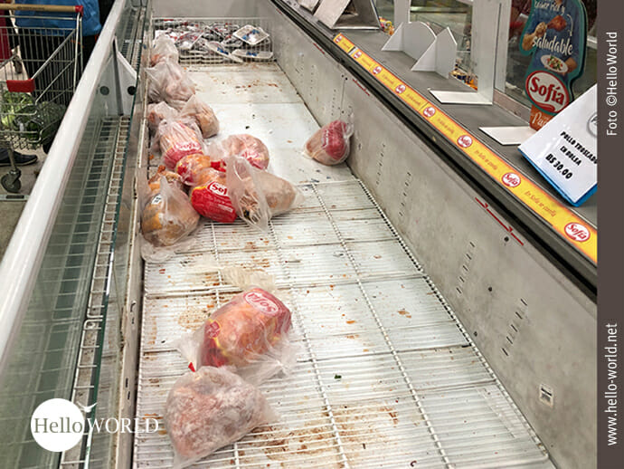 Streikkonsequenzen im Supermarkt ...