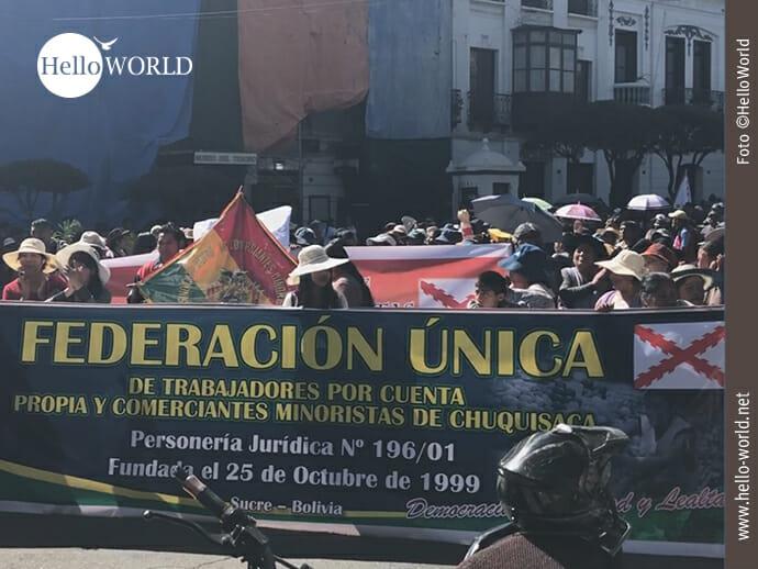 Mitglieder der Federacion Unica,...