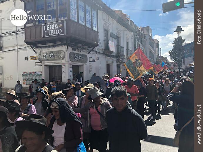Bolivien: Momentaufnahmen eines Generalstreiks.