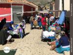 Straße auf dem Sonntagsmarkt in Tarabuco
