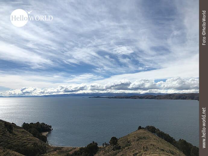 Fernsicht über den Titicacasee