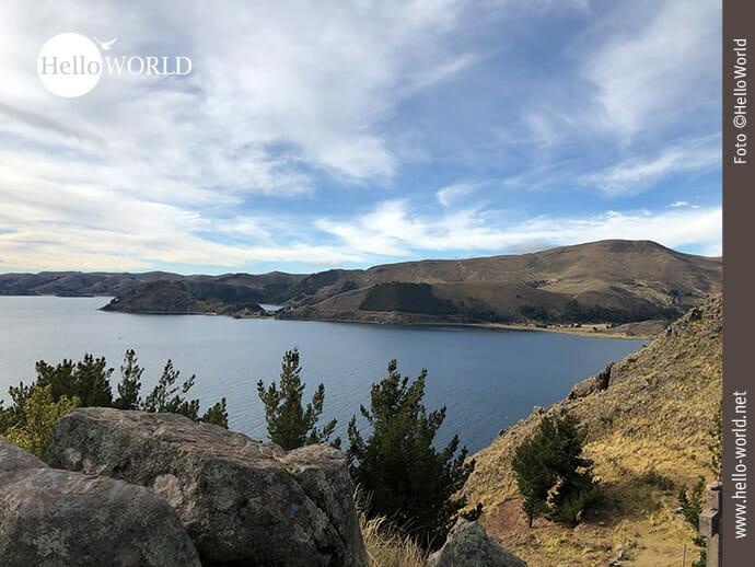 Ausblick auf den Titicacasee