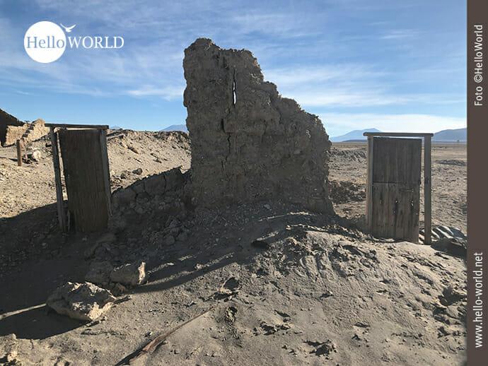Verfallen: Überreste eines Hauses